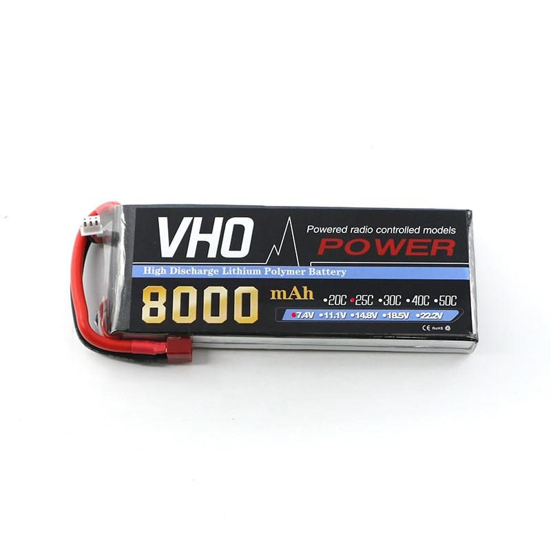 VHO Power  Bateria AKKU 2S 7.4V 8000mah 25C LiPo XT60/T/XT90/EC5/TRX Battery Traxxas for RC Helicopter Airplane Car Boat free shipping high capacity 14 8v 10400mah lipo battery li poly lithium polymer power 4s 25c akku bateria for rc car heli model