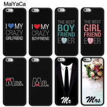 Maiyaca Pernikahan Gaun Kekasih Mr Mrs untuk Samsung S4 S5 S6 S7 S8 S9 Plus Edge Catatan Hitam Soft Shell case Karet Silikon(China)
