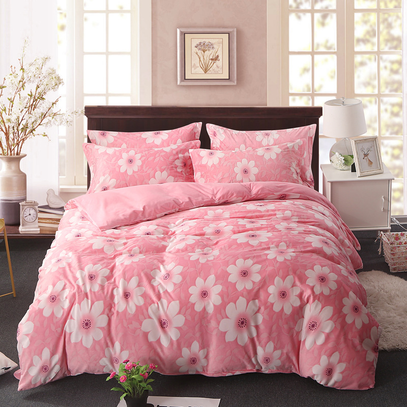 2018 3D impresso conjunto de cama de Flanela de Alta qualidade e simples e Coral fleece capa de edredão roupa de cama conjuntos