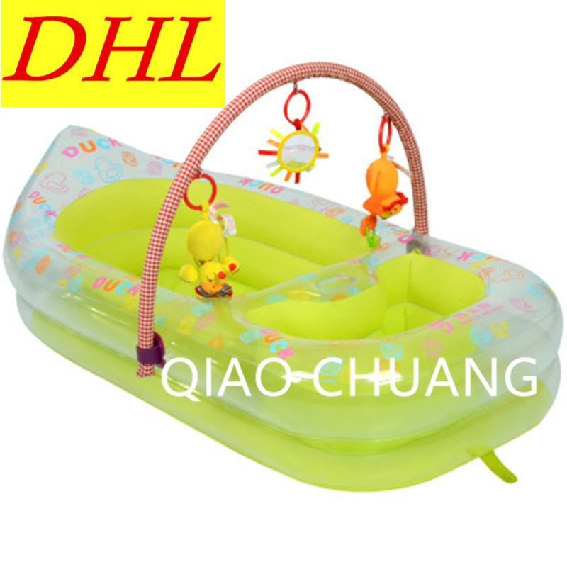 Inflatable Bath Tub Cartoon Printing Baby Crib Shampoo Pool PVC Thicken Wear-resistan Wash Supplies G975