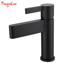 Bagnolux Factory Direct High Quality Bathroom Sink Basin Mixer Tap Wels Bathroom Spout Faucet With Single Lever In Chrome Black high quality modern style basin mixer tap single lever chrome bathroom sink faucet