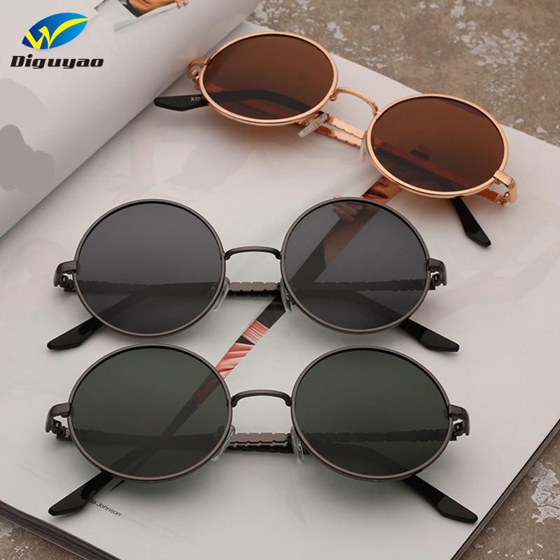 c634c79f898 Best buy fashion sunglass TAC Lens polarized classic Round Sunglasses Women  Metal Frame Sunglass Men Brand Sun Glasses online cheap