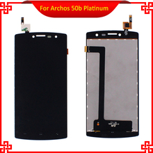 Original Quality For Archos 50b Platinum LCD Display with Touch Screen Digitizer Assembly Black Color Free Tools