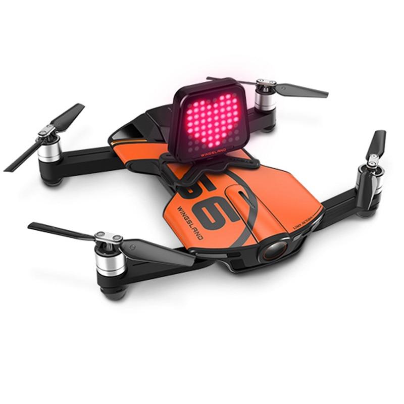все цены на For Wingsland S6 Pocket Selfie Drone LED Expression Board Display for S6