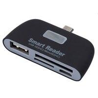 KEBIDU 4 in 1 OTG/TF/SD Lettore di Smart Card con Porta di Ricarica Micro USB per Samsung Galaxy s6 Bordo Per Il Telefono Andriod Tablet