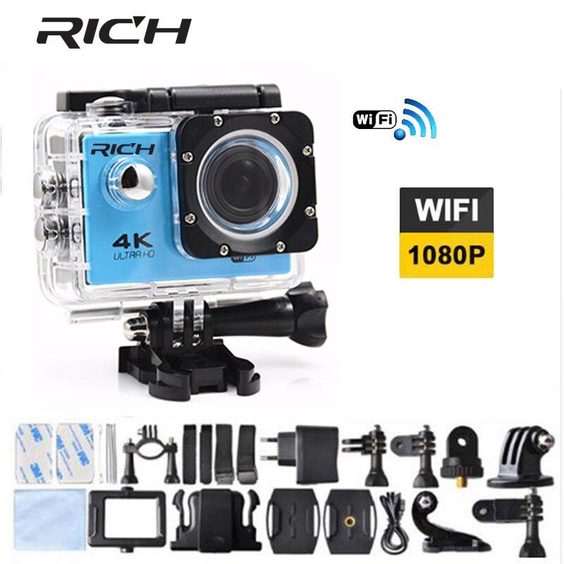RICOS câmera de Ação ao ar livre WI-FI HD Câmeras Capacete Subaquática à prova d' água esportes DV 1080 P 2.0 LCD ir 170D Cam corder pro