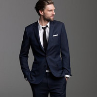 Latest Coat Pant Designs Navy Blue Casual Custom Best Man Slim Fit Beach Wedding Men Suits Summer 2 Pieces Tuxedo Masculino