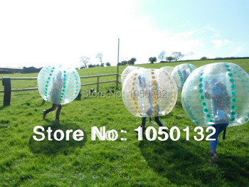 Tanie nadmuchiwane kula bumper tanie i dobre opinie Plac zabaw na świeżym powietrzu TKBB 6 lat Bubbles