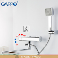 GAPPO shower faucet thermostat mixer tap Square thermostatic mixer Accessories water pipe 1.5m hose plumbing hosemixer tap