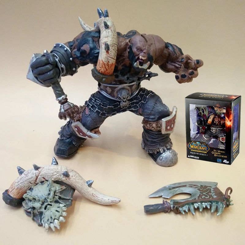 WOW WORLD SERIES 3 ORC WARRIOR GARROSH HELLSCREAM ACTION FIGURES TOY Anime Figure Collectible Model Toy dc wow thrall the orc shamman action figure toys thrall the orc shamman doll pvc acgn figure collectible model toy brinquedos