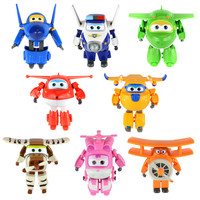 Starz  Hot Sale! Super Wings Planes Toy Deformation Airplane Robots JETT Action Figure Boys Birthday Gift Superwings