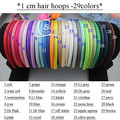 90pcs/lot Satin Covered Resin Hairbands For Baby Girls ,29 Solid Colors Satin DIY Hair band,10mm Satin Head Hoop