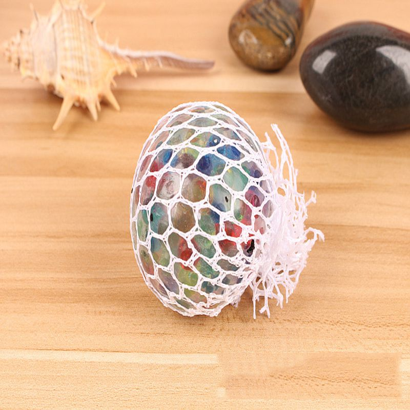 Anti Stress Reliever Colorful beads Grape Ball Blue Mood Squeeze Relief Healthy Toy Funny Geek Gadget Vent Toy Gift New 2018