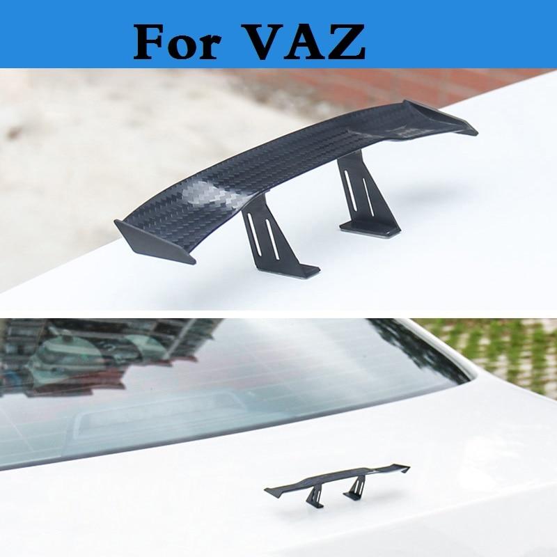 Car-styling Mini Model Auto Spoiler Rear Wing Sticker For VAZ 2104 2109 2111 2121 (4x4) EL Lada Kalina Largus Priora Revolution фаркоп avtos на ваз 2108 2109 2113 2114 2016 тип крюка h г в н 750 50кг vaz 14