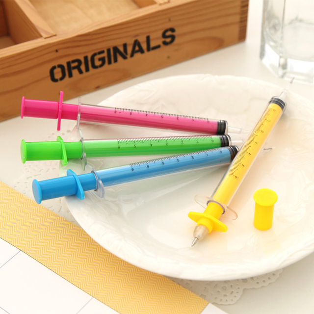 Ann hearts . the appendtiff stationery candy color syringe ballpoint pen 0.38 pen needle