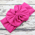 Hot pink Large Bow Baby Headband Big Bow Headwrap Jersey Cotton Headband Head Wraps For Baby Infant Hair Accessories 5pcs
