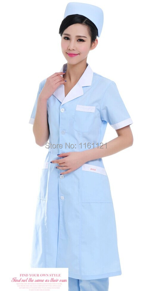 2015 Top Fashion Time-limited Women Woven Cotton Surgical Cap Jalecos Lab Coat Nurse Working Uniform In Medical Hospital Collar