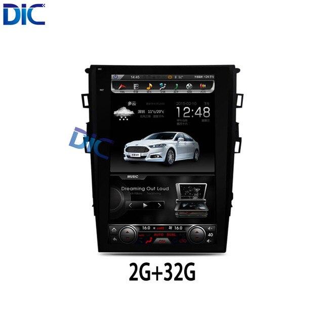 DLC Android vertical 12 polegada ROM32G alta qualidade de áudio do carro jogador de navegação de vídeo multifunções mp3 Para ford mondeo 2013-2017
