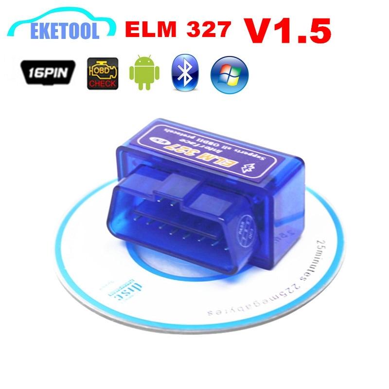 Firmware V1.5 PIC18F25K80 mejor calidad OBD2 diagnóstico ELM327 V1.5 soporta todos OBD2 protocolos Elm 327 1.5 OBD2 herramienta auto