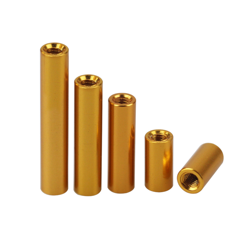 圆形铝柱金色