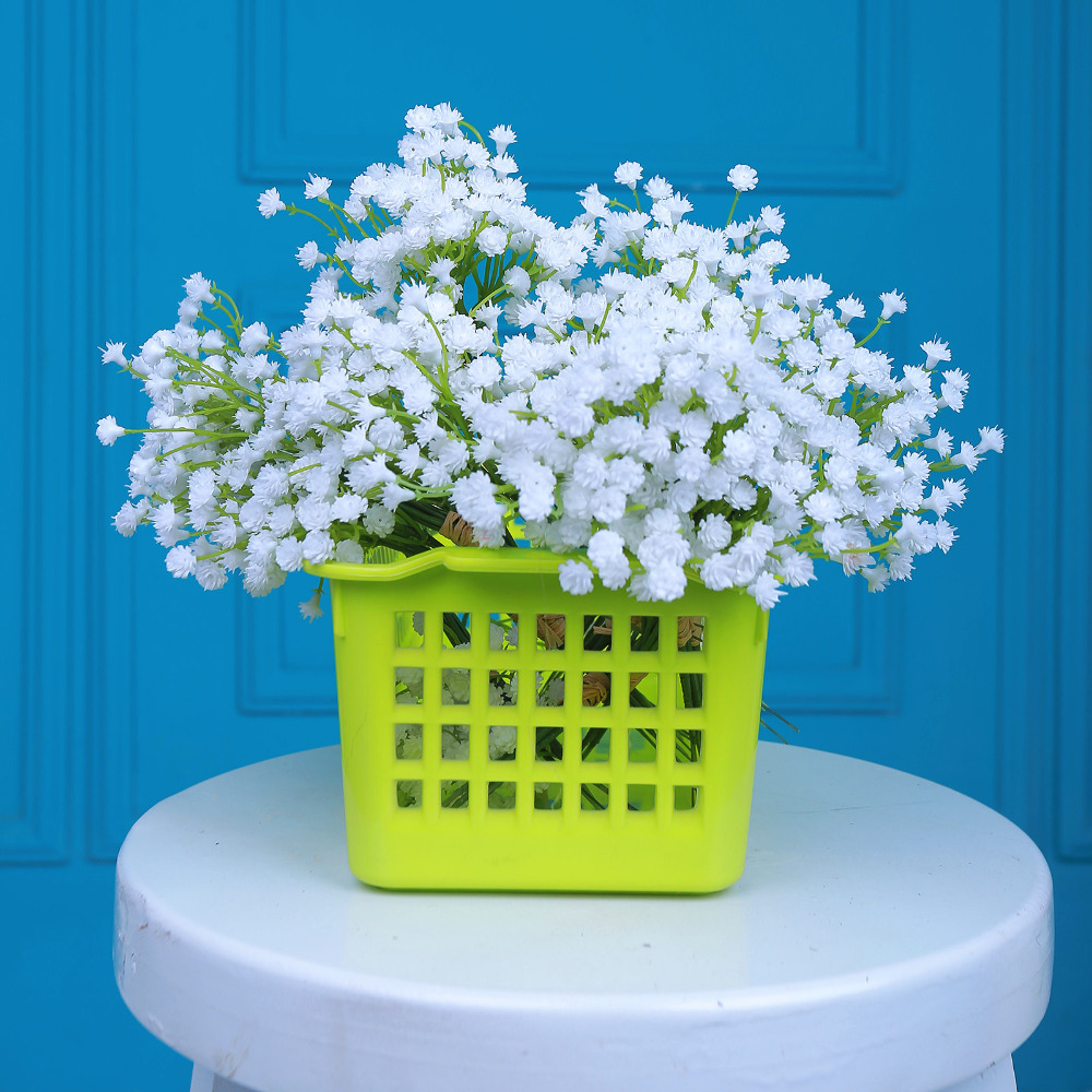 12 Bouquets Pu Artificial Flowers White Wedding Party Flowers Fake