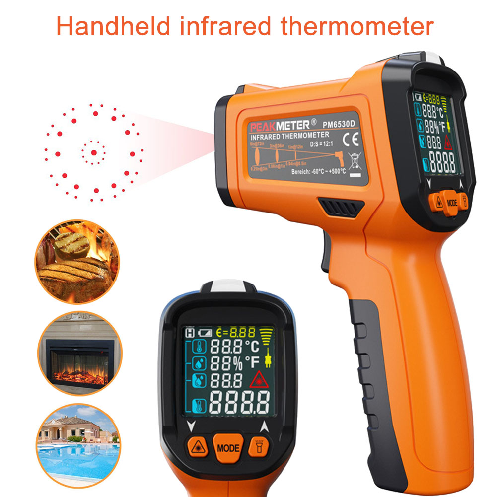 Profession PM6530D Infrared Thermometer Non-contract Digital IR Temperature Tool Display With 12 Point Aperture --M25 thesocial contract