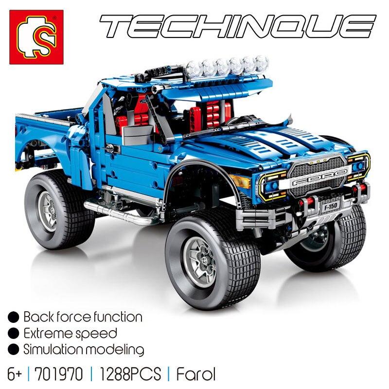 Sembo Technic le F-150 Raptor pick-up modèle blocs de construction briques LeSet tout-terrain Ford Trucks jouets éducatifs de travaux manuels cadeaux