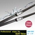 """Limpiaparabrisas cuchillas para SEAT IBIZA (2006-2009) 21 """"+ 19"""" fit botón tipo de limpiaparabrisas armas sólo HY-011"""