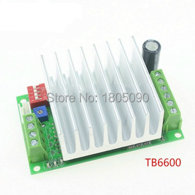 1pcs TB6600 4.5A Stepper motor drive controller Engraving machine stepper motor driver board single axis controller TB6600 New 57 series motor drive two phase stepper motor for single axis output engraving machine 3d printing motor 57hs10044a4 l100