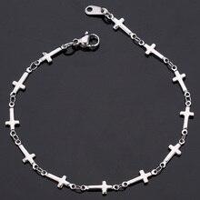 Women's Christian Bracelet Jewelry Stainless Steel Cross
