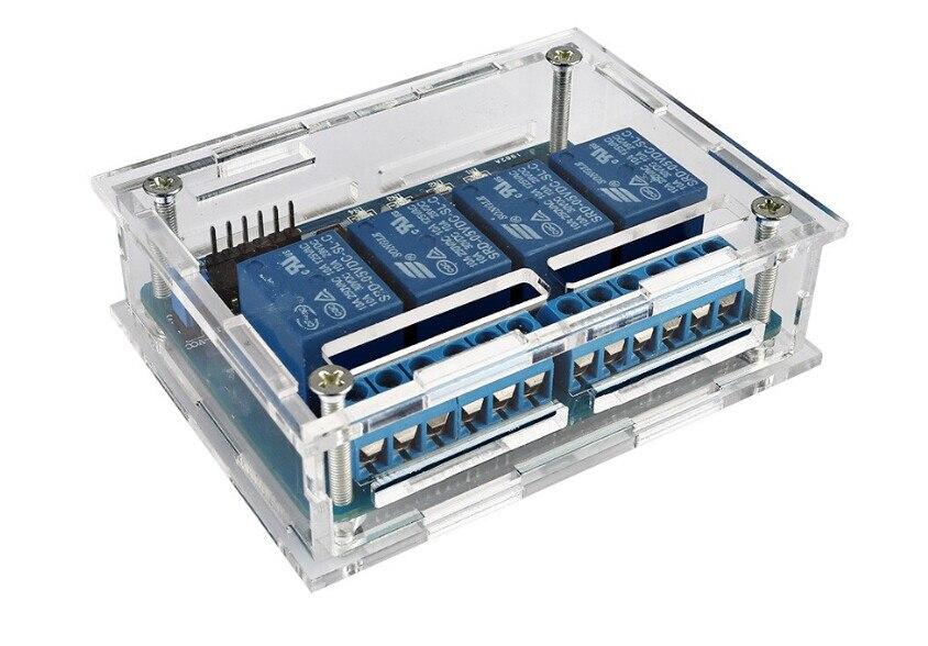 Dsp Kenntnisreich Dc 5 V 4 Kanal Relaismodul Für Raspberry Pi Mit Praktische Acryl Diy Fall Shell Qualität Attraktive Mode Pic Arduino 8051 Avr Arm