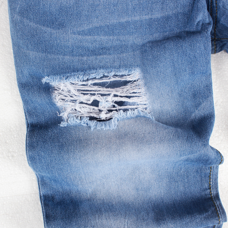 Summer Thin Jeans Men Fashion Streetwear Mens Jeans Destroyed Ripped Design Fashion Pencil Pants Ankle Skinny Men Jeans