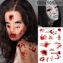 Zombie Scars Injury Plastic Stickers Halloween Decoration