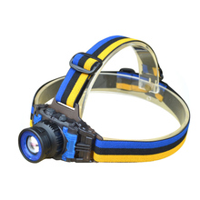 LED Headlamp Cree Q5 Headlight Waterproof Built-in Lithium Battery No Charger Rechargeable Head llight 3 Modes Zoomable Torch
