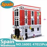 16001 Ghostbusters пожарный дом штаба строительные блоки дом модель корабль из Испании совместимые legoing 75827 строительные игрушки