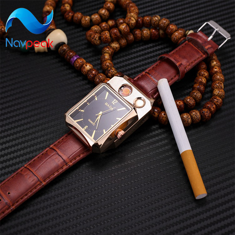 Watch lighter charging windproof creative personality USB electronic cigarette lighter men and women watch lighter