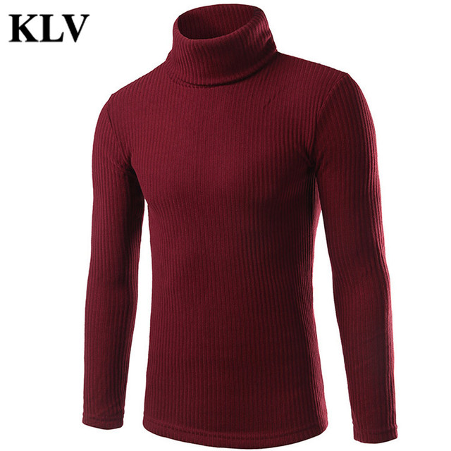 New Arrival Autumn Winter Men Fashion Solid Knitted Warm Sweater Turtleneck Outwear Windbreak Tops Blouse Camisola Oct11