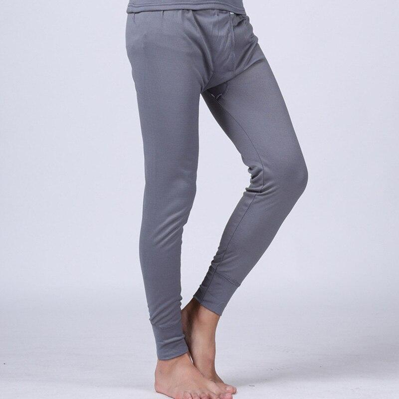 Mens Thermal Underwear Pants Winter Modal Long Johns Tights Warm Pijama Mens Casual Polar Fleece Pants Brand Clothing
