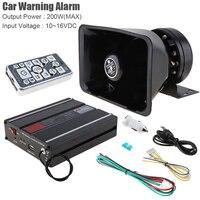 12V 200W 18 Ton Hände-Freies Laut Auto Warnung Alarm Fernbedienung Sirene Verstärker Sirene Horn Lautsprecher mit MIC System