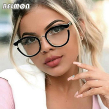 Belmon Spectacles Frame Women Computer Optical Prescription Eye Glasses Frame Eyewear Transparent Clear Lens Eyeglasses 97551