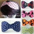12 pc bonito das mulheres da forma da menina clássico bow Headband dot Alice banda acessórios de cabelo