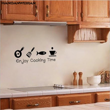 1PCS 51*20CM Best selling English carved kitchen stickers decorative wall for home