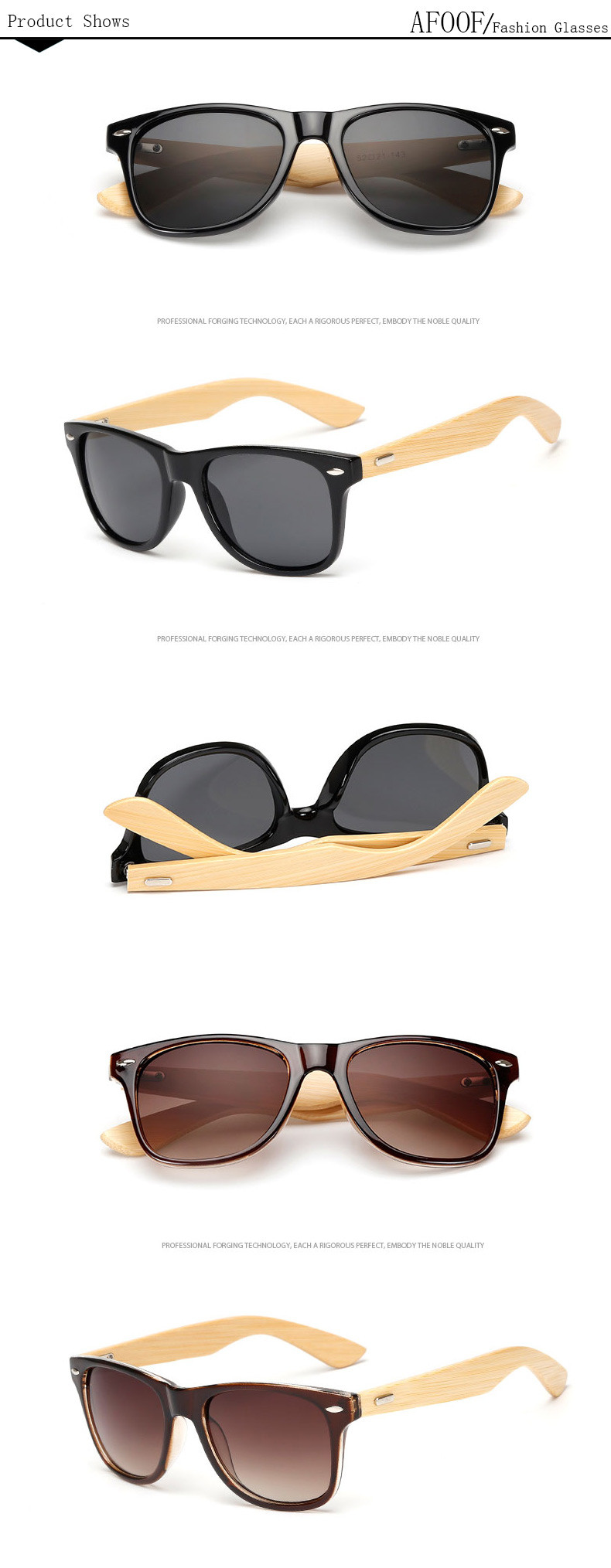 Bamboo Sunglasses For Men & Women