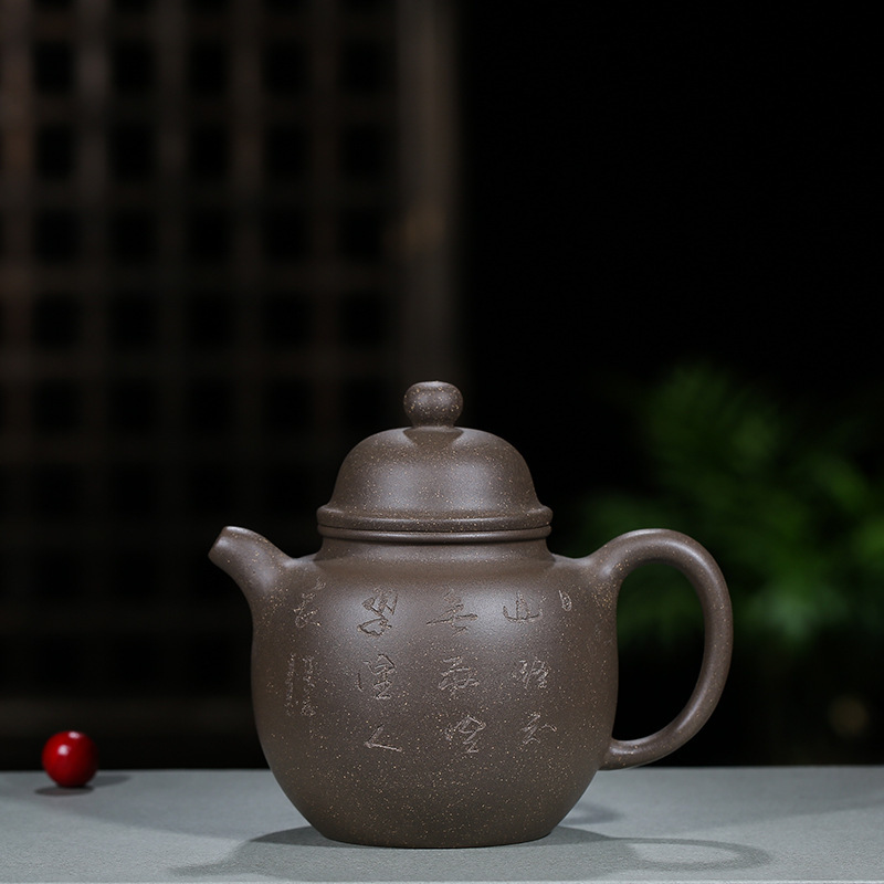 Pottery Teapot Wholesale Raw Ore Grey Lime Mud High Pitcher Quality Goods Yixing Manual Teapot Kung