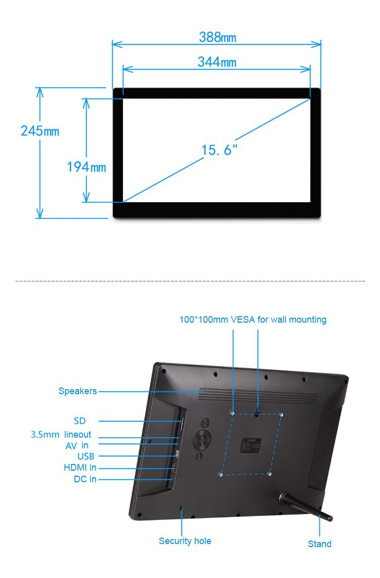 15 inch digital frame product details