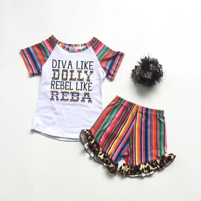 ملابس صيفية للأطفال بناتي ملابس أطفال من القطن بتصميم كلاسيكي على شكل فهد ومزودة بكشكشة