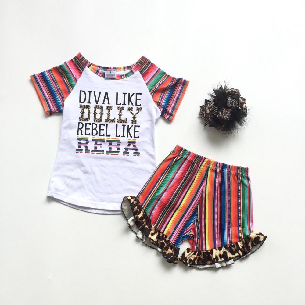 baby boy clothes 2T summer Short Set Appliqué Fisher