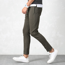 цена New Men's Four Seasons Straight Casual Pants Korean Slim Pants Pants Cotton Elastic Sports Pants онлайн в 2017 году
