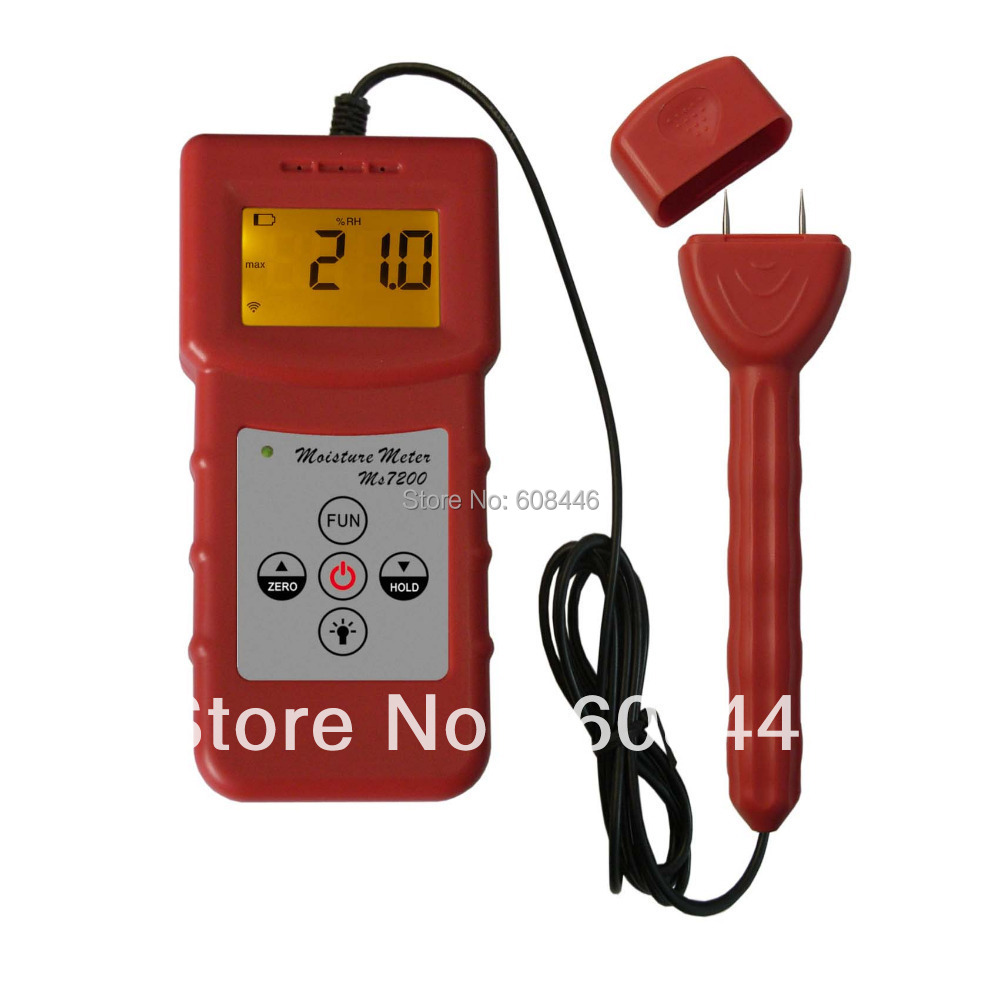professional 2 Pin Wood Moisture testerMeter for measuring moisture content of wood, Timber, paper  MS7200 hygrometer 3 Pcs/Lot