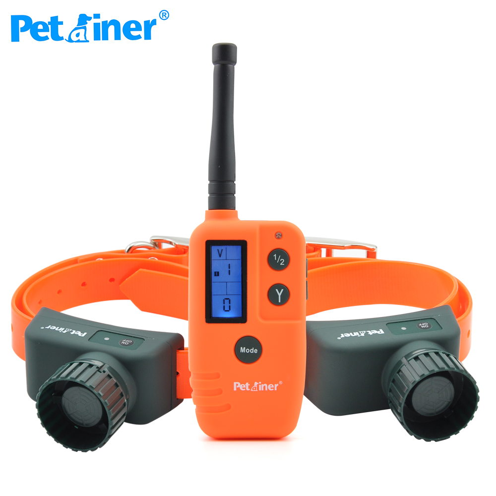 Petrainer 910B 2 Big Voice Sounds Scared Bird Dog Beeper Training Collar For 2 Dogs